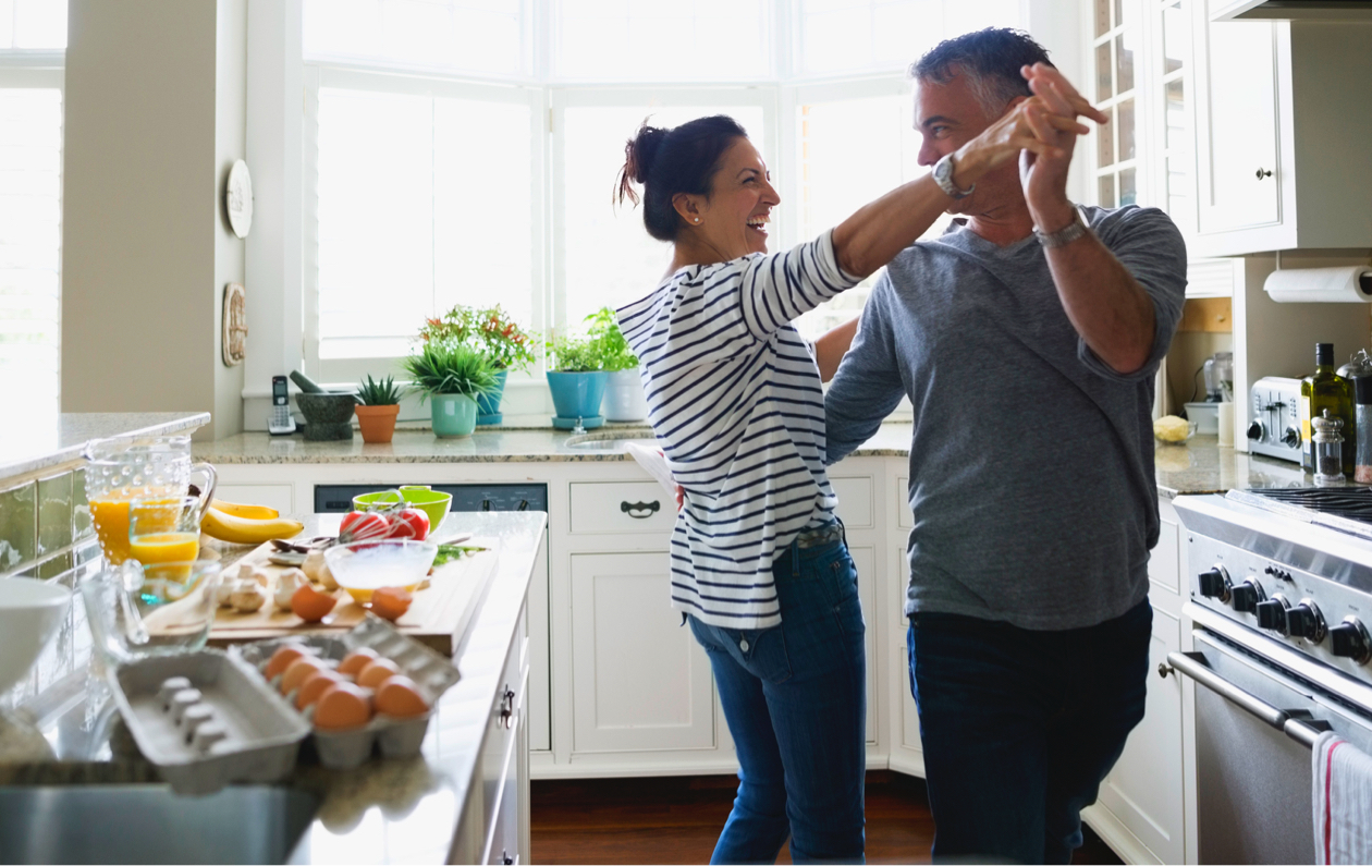 couple celebrating having home offer accepted