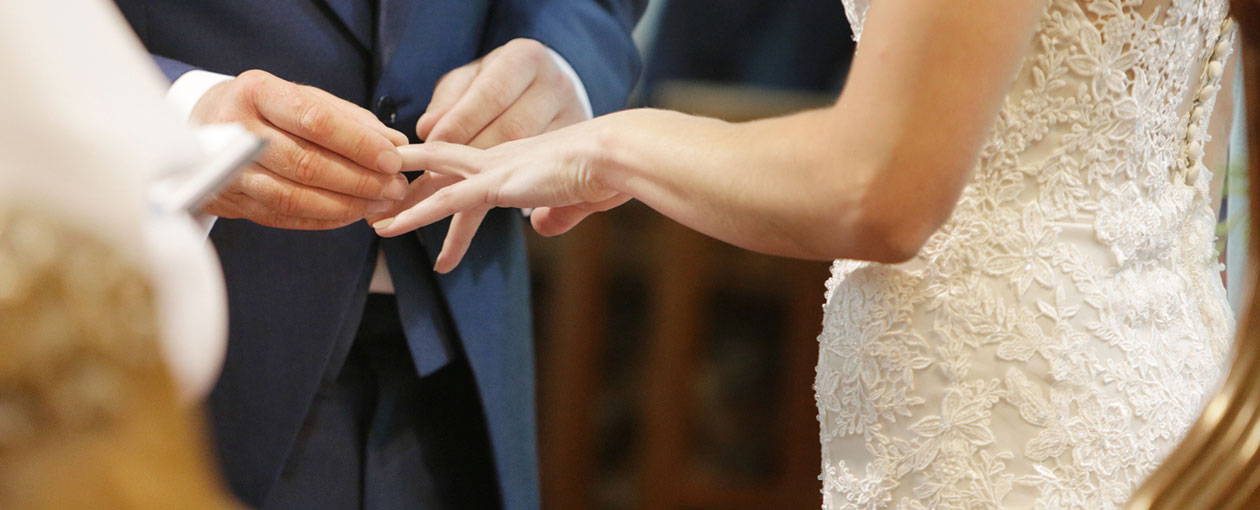 Man Woman getting married