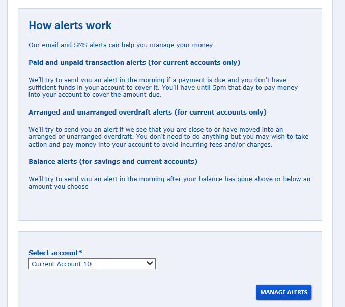 how alerts work screen