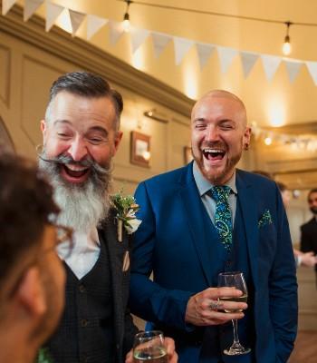 Men at wedding