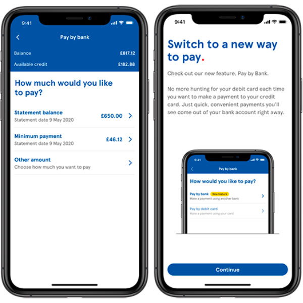 Pay by Bank feature on the Mobile Banking App