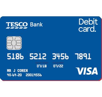Tesco Bank Visa Debit Card (or Credit Card)