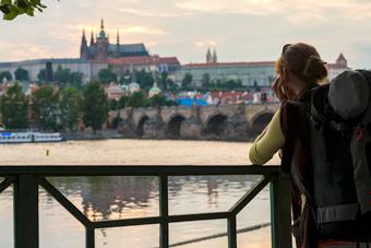 Woman in Prague